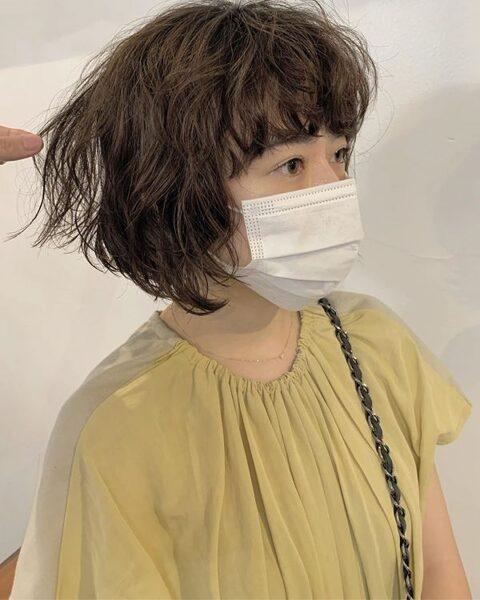 ワイドバング×ショート【パーマ】3