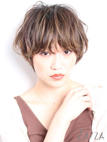 ワイドバング×ショート【パーマ】4