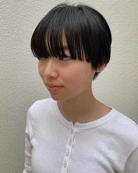 ワイドバング×ショート【ぱっつん】4