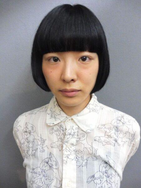 ワイドバング×ショート【黒髪】