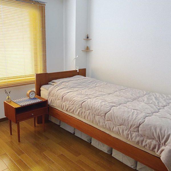ナチュラルでおしゃれな寝室インテリア9