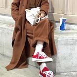 赤コンバースの冬コーデ【2021】大人女子がおしゃれに履きこなすポイントは?