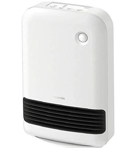 アイリスオーヤマ 大風量 セラミックファンヒーター 人感センサー付き 1200W マイコン式 押しボタンタイプ ホワイト PDH-1200TD1-W