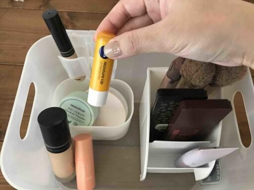 薬味チューブケースを使った化粧品収納