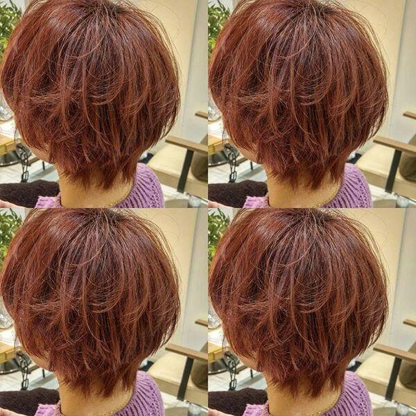 肌色がきれいに見えるレッドブラウンヘア