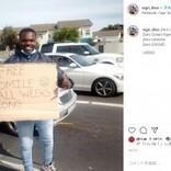 「毎日スマイル無料」掲げ、路上で物乞いをする男性に45万円が集まる(南ア)