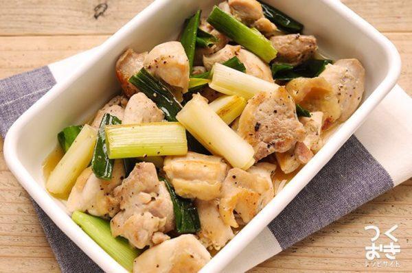 中華風で美味しい鶏肉と長ネギのうま焼き