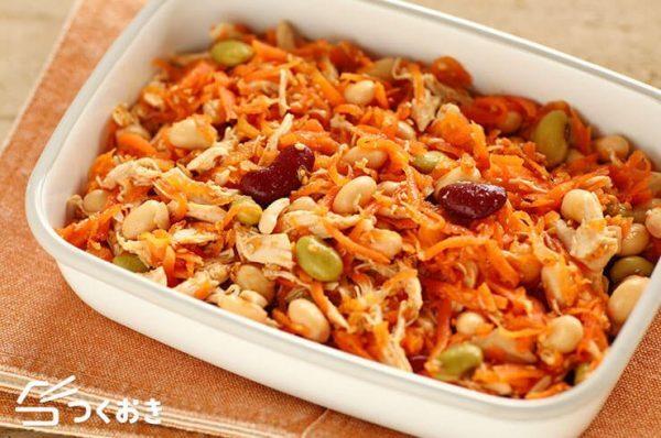 栄養豊富なレシピ!ささみと豆のサラダ