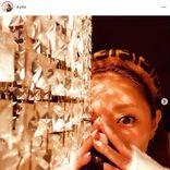 浜崎あゆみ、リラックスTimeのヘアバンド姿公開し「歌姫の瞳にドキドキ」「Beautiful」の声