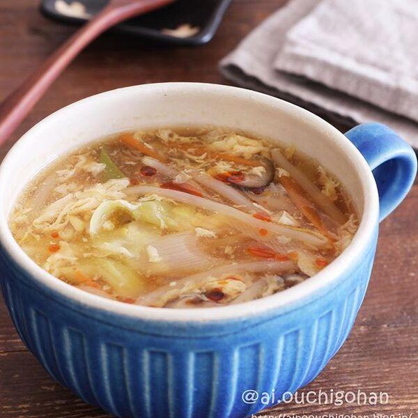 すっぱ辛い酸辣湯風スープ