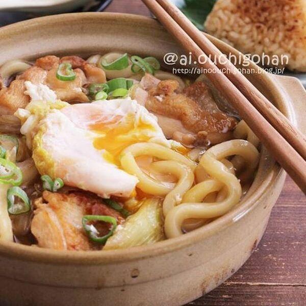 温かい人気のレシピ!鍋焼きうどん