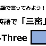 英語で「3密」はなんて言う?