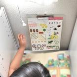 """【おうち時間】4歳児も進んでリビング学習! ニトリでつくる""""とっておき""""学習スペース"""