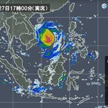 非常に強い「台風18号」 大きな雨域を伴い ベトナムへ