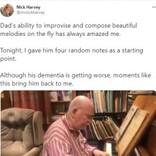 認知症の元音楽教師が自作の曲をピアノ演奏 BBCフィルとコラボし、楽曲リリースへ(英)