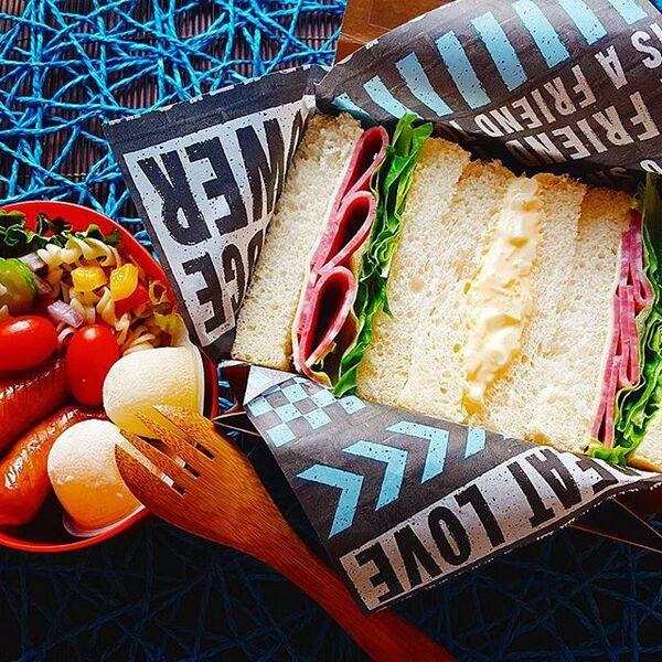 具材たっぷりなサンドイッチ弁