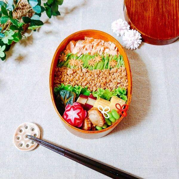お弁当の定番レシピ!手作り三色丼