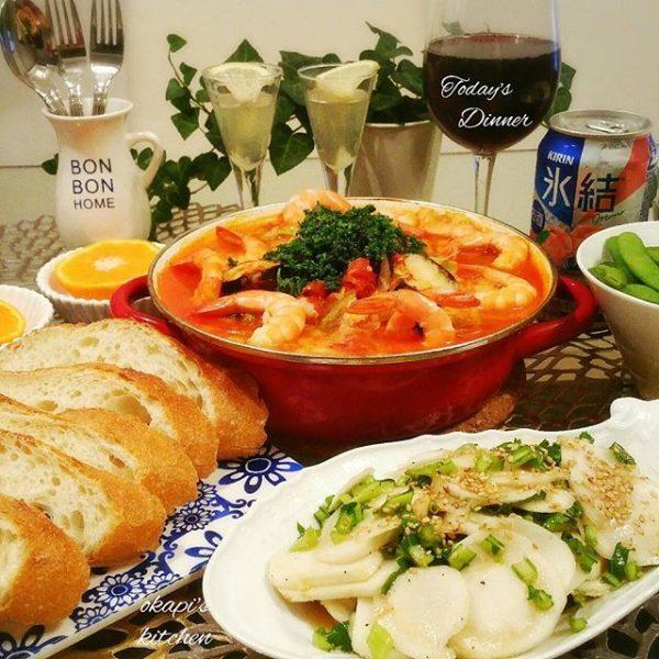 簡単レシピ!野菜と魚介たっぷりトマト鍋