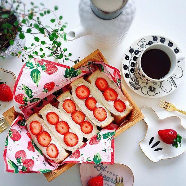 簡単!苺のポケットフルーツサンド