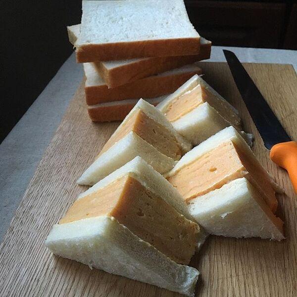 美味しいレシピ!厚焼き卵サンドイッチ