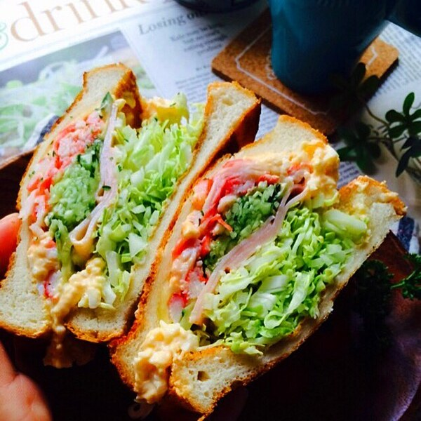 簡単にできる!野菜サンドイッチ