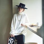 こだわるべきは「縦落ち感」│着まわしにも効く「暗めグレーのサテン」スカート
