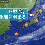 11日 冬型緩み 季節風収まる