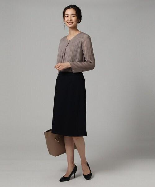 [UNTITLED] [L]【洗える・抗菌防臭】レイナジャージAラインスカート