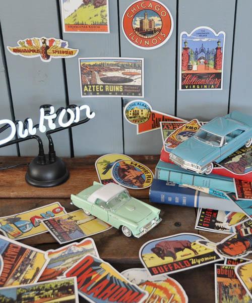 [DULTON] OLD STATES STICKERS