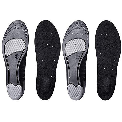 [Letlar] [2足4枚] インソール 靴の中敷き なかじき 衝撃吸収 3D 低反発 クッション 消臭 マイサイズ調整 黒 (ブラック, M(約23.5~26.5cm))