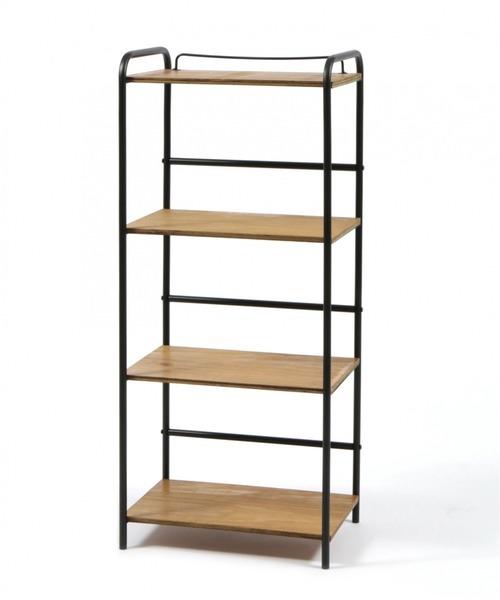 アイアンと木材を組み合わせた棚