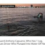 義足のライフガード、車ごと海に転落した男性を救出 見守っていた周囲から拍手沸く(米)<動画あり>