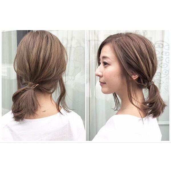 後れ毛が特徴的な大人っぽい一つ結び