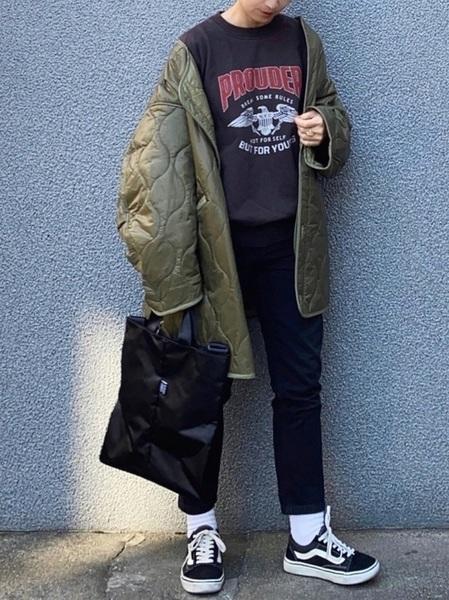 【WEB限定】M65ライナーキルトコート(キルティングジャケット・ノーカラーコート)