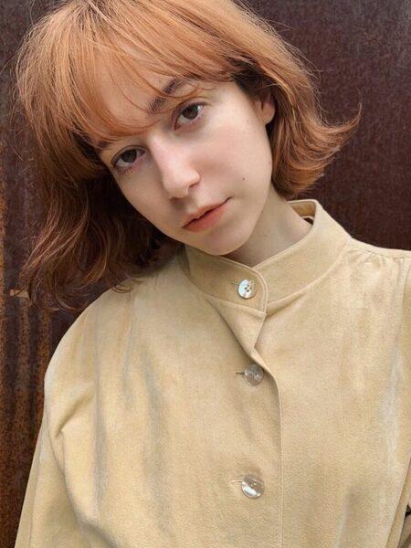 オレンジブラウンヘアカラー ダブルカラー3