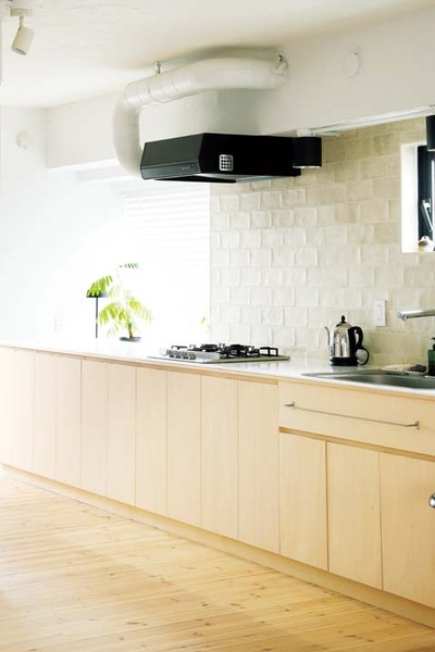 作業スペースに余裕のあるオリジナルキッチン