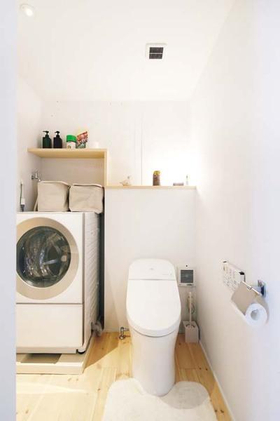 トイレ内に濯機置き場を