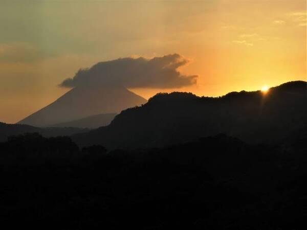 開聞岳の夕景