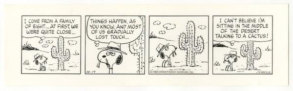 「ピーナッツ」原画 1983年10月19日 (C)Peanuts Worldwide LLC