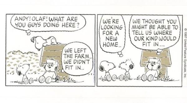 「ピーナッツ」原画(部分) 1997年6月12日 (C)Peanuts Worldwide LLC