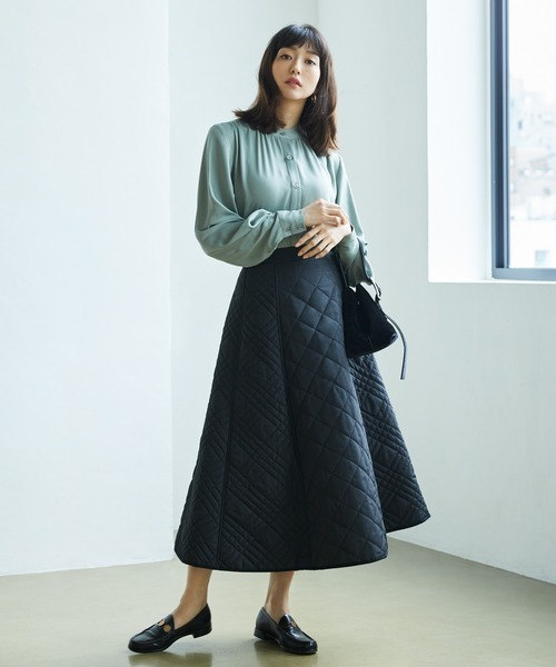 [tocco closet] キルティングフレアスカート