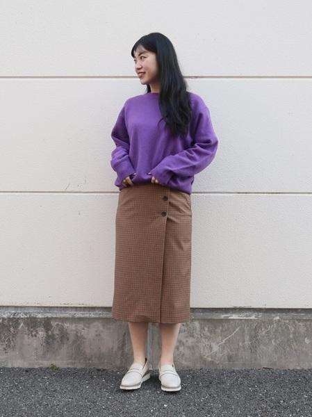 ユニクロチェックタイトスカート