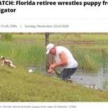 愛犬を救うため池に飛び込んだ男性 レスリングさながらにワニと格闘(米)<動画あり>