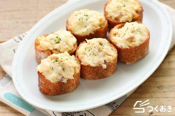 人気メニュー!ツナとクリームチーズトースト