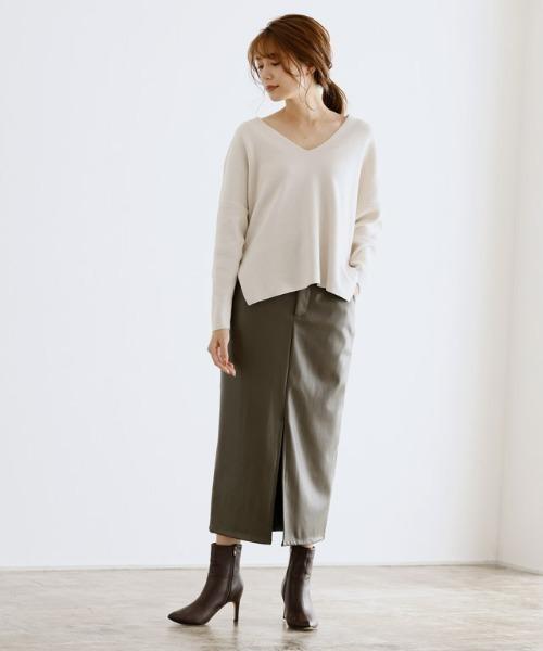 [Pierrot] フェイクレザータイトスカート9