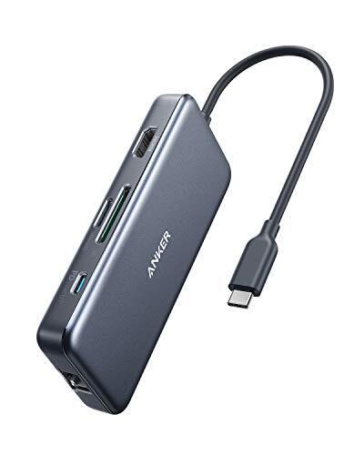 Anker PowerExpand  7-in-1 USB-C PD イーサネット ハブ【4K対応HDMI出力ポート / 60W出力 Power Delivery 対応USB-Cポート / 1Gbps イーサネット / 2つの USB-A ポート / microSD & SDカード スロット搭載 】 MacBook Pro / iPad Pro / ChromeBook 他対応 テレワーク リモート 在宅勤務