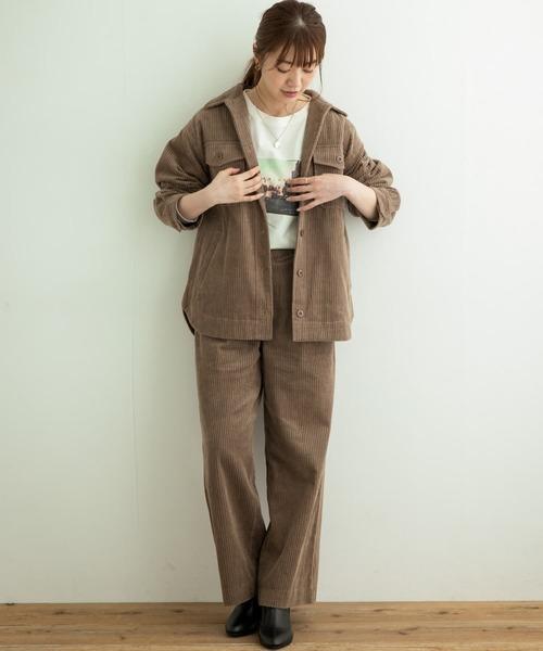 [URBAN RESEARCH Sonny Label] 太コールワイドパンツ