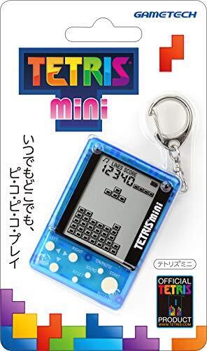 【テトリス社公式ライセンス製品】キーホルダー型携帯ゲーム機『テトリス( R )ミニ (クリアブルー)』