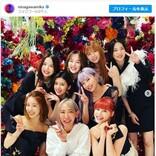 NiziUに「元気もらった」 蜷川実花と8人の記念写真