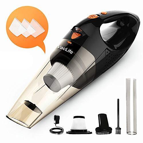 ハンディクリーナー VacLife 車用掃除機 コードレス ハンディ掃除機 小型 充電式 ミニ 家庭用 超強吸引力 DC12V 30分間連続稼働 低騒音対策 多機能 LEDライト付き